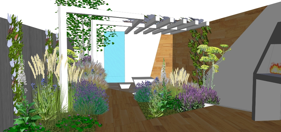 contemporary garden design Bath