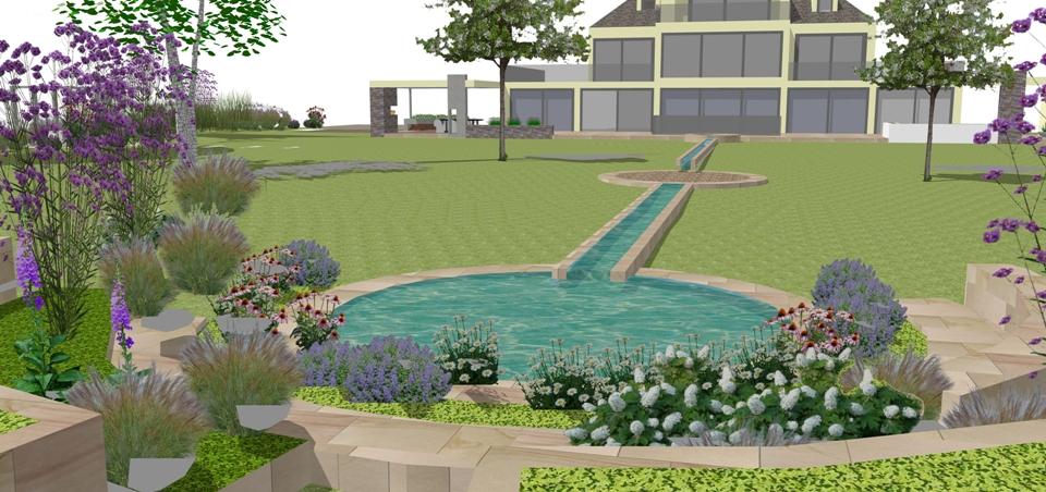 contemporary garden design chester 2