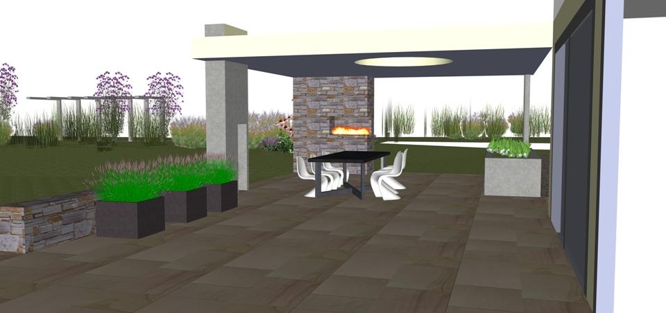 contemporary garden design chester