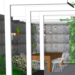 modern rustic garden design 2